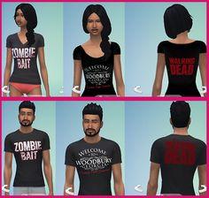 Walking Dead T Shirts at Star's Sugary Pixels via Sims 4 Updates