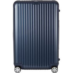 """Rimowa 's Salsa Deluxe 29"""" Multiwheel® Trolley (2,605 SAR) ❤ liked on Polyvore featuring bags, luggage, blue, mens bags, mens travel suitcase, mens luggage bags and mens travel bag"""