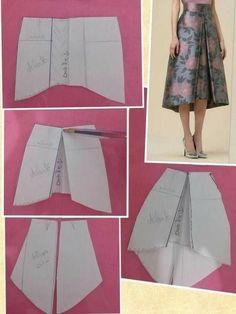Skirt Patterns Sewing, Clothing Patterns, Coat Patterns, Blouse Patterns, Clothing Ideas, Circle Skirt Pattern, Circle Dress, Fashion Sewing, Pattern Fashion