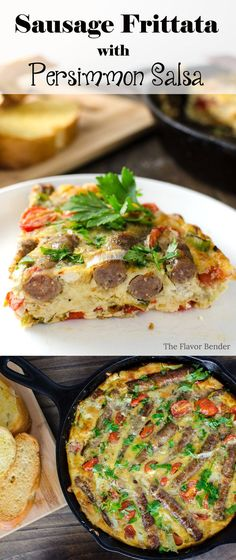 Sausage Frittata with Persimmon Salsa