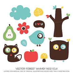 Vector Forest Whimsy No2 {CU}