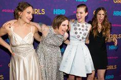 Pin for Later: Best of 2014: les 29 Moments les Plus Mignons du Tapis Rouge The Cast de Girls à L'avant Première de la Saison 3