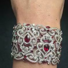 Ruby and Diamond bracelet. Have a closer look at this Fabergé masterpiece