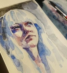 Having way too much fun with these little pieces. #watercolor #linneastrid by yourfavouritecolor