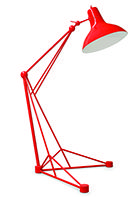 Either its red, grey or black, this mid-century modern lighting design fits perfeclty in any edgy and cool interior design project. See it live at Maison et Objet fair 2017. http://www.delightfull.eu/en/heritage/floor/diana-standing-lamp.php