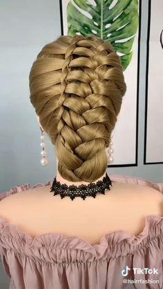 Ponytail Hairstyles Tutorial, Bun Hairstyles For Long Hair, Braids For Long Hair, Girl Hairstyles, Braided Hairstyles, Hairstyle Tutorials, Braided Ponytail, Front Hair Styles, Medium Hair Styles