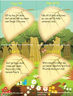 nature scavenger hunt printable | example nature scavenger hunt clues/riddles