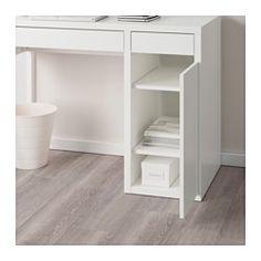 MICKE Mobile studio, bianco - 105x50 cm - IKEA