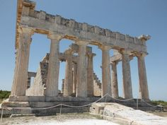 Temple of Athena Aphaia, Agia Marina, Aegina Island, Saronic Islands, Greece Holiday Planner, Simple Life Hacks, Top Hotels, Greek Islands, Brooklyn Bridge, Time Travel, Marina Bay Sands, Vintage Posters, Cats And Kittens