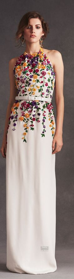 Oscar de la Renta Pre Spring 2016 collection.  #fashion#glamour#dress #style#oscardelarenta