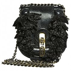 Black Handbag FENDI ($1,095) ❤ liked on Polyvore featuring bags, handbags, fendi handbags, black purse, fendi, black handbags and black bag