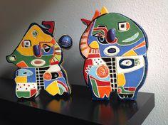 Culhuah's 25 cm hoog, clay bright glazuur