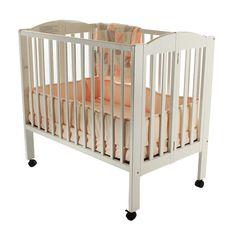 Dream On Me 3 In 1 Folding Portable Crib, Grey