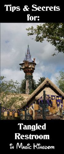 TheTangled Restroom in the Magic Kingdom is located in Fantasyland beside It's A Small World just before you enter into Liberty Square. If you loved the Tangled movie, you definitely need to plan on visiting these bathrooms! Off in the distance, you can see Rapunzel's tower. Unfortunately you can not enter the tower, but children …