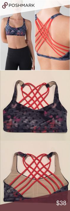 Lululemon Free To Be Wild Bra Lululemon Free To Be Wild Bra in the color Windy Blooms Regal Plum Multi/Alarming, size 4, excellent condition with no flaws. Original pads not included. Bundle to save 10% off ❤ lululemon athletica Intimates & Sleepwear Bras