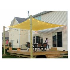 e-Joy Sun Square Shade Sail Sun Shade Sails, Patio Shade Sails, Shade For Patio, Deck Shade, Patio Sun Shades, Backyard Shade, Outdoor Shade, Backyard Canopy, Patio Canopy