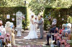 Themed wedding ideas. Alice in wonderland wedding ceremony! GORGEOUS!! Why is a raven like a writing desk?