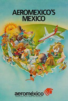 Aeromexico's Mexico Travel Poster