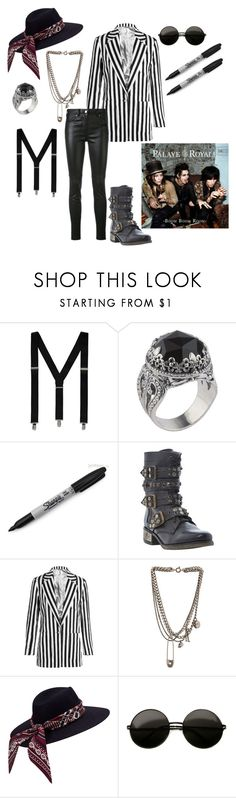 """Emerson Barrett Outfit"" by serenity-sempiternal2006 ❤ liked on Polyvore featuring George, Konstantino, Sharpie, Steve Madden, Topshop Unique, Alexander McQueen, Givenchy, men's fashion and menswear"