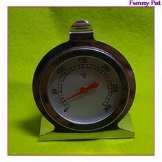 Thermomètre à four, à cadran, à poser ou à accrocher à l'intérieur de votre four afin de contrôler la température de celui-ci. Corps en inox. Échelle de températures : + 50°C à + 300°  …