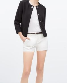 TENCEL CHINO SHORTS WITH BELT