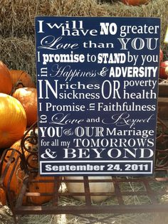 Personalized Wedding Vows by HopeStreetBoutique on Etsy, $75.00