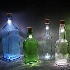 2 x USB rechargeable LED light form cork Decor Empty wine bottles - White light bottles Empty Wine Bottles, Lighted Wine Bottles, Bottle Lights, Led Shop Lights, Tea Lights, Bottle Manufacturers, Diy Roman Shades, Design3000, Usb