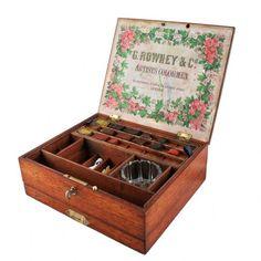 Antique Victorian artist's box by Rowney & Co. This century antique artist's box has original block paints. Old Boxes, Antique Boxes, Block Painting, Antiques For Sale, Antique Paint, Victorian Art, Painted Boxes, Antique Photos, Casket