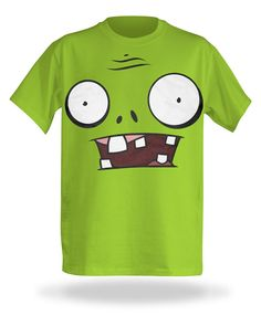 Plants vs. Zombies Costume Tee...for a little flair top off with a bucket (or traffic cone)