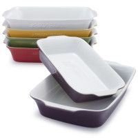 Oven-to-Table Stoneware Bakers with Lids, Sets of 3 | Sur La Table