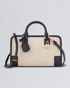 Amazona 23 Leather Bag, Stone/Black by Loewe at Neiman Marcus.