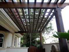 Modern Wood Pergola by Outdoor Kitchens & Living of Florida, via Flickr
