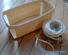 Twine Wrapped Fruit Bowl ~ * THE COUNTRY CHIC COTTAGE (DIY, Home Decor, Crafts, Farmhouse)
