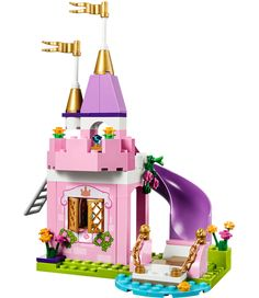 LEGO Juniors - The Princess Play Castle and over 7,500 other quality toys at Fat Brain Toys. Build a beautiful pink castle with turrets, golden flags, a drawbridge and slide. A LEGO princess and her regal kitten inspire royal fun. Let the building fun begin early with LEGO Jr!