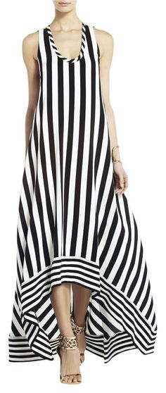 Black\White BCBGMAXAZRIA Maxi Dress. Free shipping and guaranteed authenticity on Black\White BCBGMAXAZRIA Maxi Dress at Tradesy. Bold stripes are a must-have this season, and this...