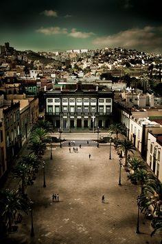 Vista de Las Palmas. Foto de Rob van der Pijll, via 500px:   http://500px.com/photo/2724076