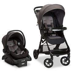 Safety First Smooth Ride Travel System. The Smooth Ride Travel System makes strolling easy with everything you need to truly enjoy your time when out and about with your baby and none of the hassles other strollers are known for. The agile wheels provi Car Seat And Stroller, Baby Car Seats, Jogging Stroller, Umbrella Stroller, Double Strollers, Baby Strollers, Travel Car Seat, Walmart, Travel System