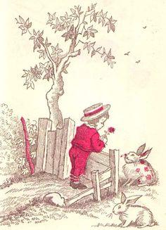 Maurice Sendak's Rare Velveteen Rabbit Illustrations circa 1960 – Brain Pickings Vintage Children's Books, Vintage Art, Maurice Sendak, Children's Book Illustration, Book Illustrations, Building Illustration, Patch, Childrens Books, Artist