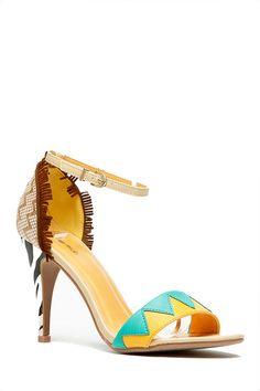 Tribal Print Textured Heels @ Cicihot Heel Shoes online store sales:Stiletto Heel Shoes,High Heel Pumps,Womens High Heel Shoes,Prom Shoes,Summer Shoes,Spring Shoes,Spool Heel,Womens Dress Shoes,Prom Heels,Prom Pumps,High Heel Sandals