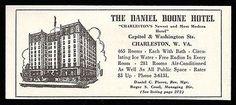 Daniel Boone Hotel Ad Charleston West Virginia AC Radios 1953 Roadside Travel