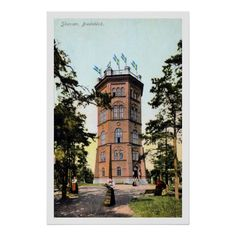 Vintage ca 1900 Skansen Sweden Bredablick Poster