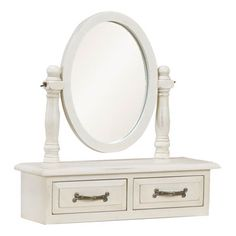 This Kaldors Victorina Antique Cream Finish Trinket Mirror (Free Standing) is Dressed in a distressed ivory paint, this collection brings romance in abundance. Hand-crafted with beautiful and regal details, this range captures the elegance of times gone Dressing Table Vanity Unit, Shabby Chic Dressing Table, Dresser With Mirror, Mirrors For Sale, Mirrors Online, Full Length Mirror Wall, Ivory Paint, Ideal Home
