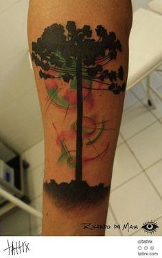 Perfeita essa araucária do:  Ricardo-da-Maia-tatuagens-tattoos-