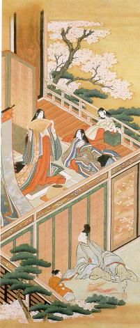 The Tale of Genji 源氏物語 - a classic work of Japanese literature written by the Japanese noblewoman, Lady Murasaki Shikibu in the early years of the 11th century, around the peak of the Heian period. It is sometimes called the world's first novel.If you read it don't settle for the abridged 10 chapter version, read the full 54 ch. version. Give the Shining Prince the chance to redeem himself!!.  (painting: Scene from the Tale of Genji by KATSUSHIKA Hokusai)
