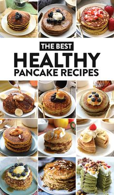 We scoured the internet for the most delicious healthy pancake recipes and we found them! You just can't beat healthy pancakes for breakfast, lunch, or brinner. You can have your pancake and eat it too with pancakes made from whole ingredients and no processed sugar.