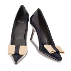 Stuart Weitzman Patent Leather Pumps in Navy
