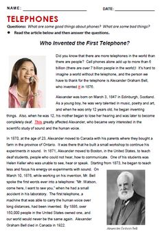Telephone - All Things Topics English Stories For Kids, Learning English For Kids, Teaching English Grammar, English Grammar Worksheets, English Language Learning, English Words, English Vocabulary, English Phrases, Language Arts