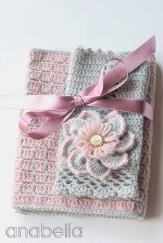 Set by Pink crochet winter Anabelia