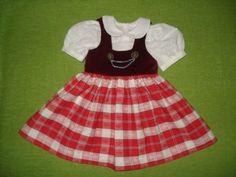 Puppenmode-Puppenkleid-Landhauskleid-Puppen-Dirndl-f-70-cm-Puppe-Handarbeit