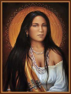 Cherokee Artist Sharon Irla.  Nancy Ward: Ghi-ga-u (Beloved Woman) of the Cherokee.
